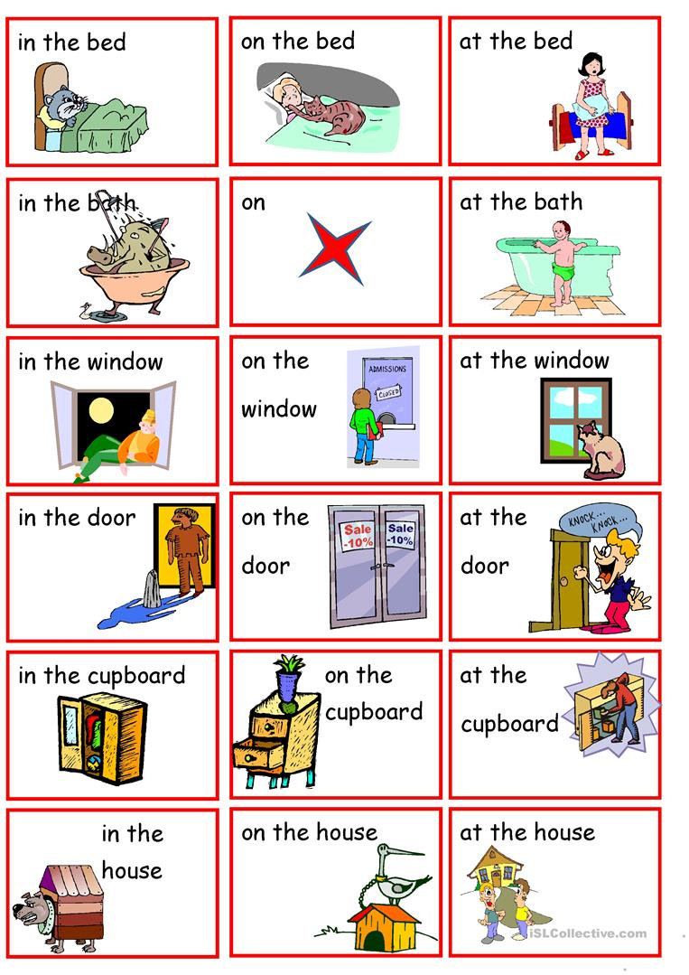 Preposition In Learn In Marathi All Complate: Preposition Of Position To, At, On Worksheet
