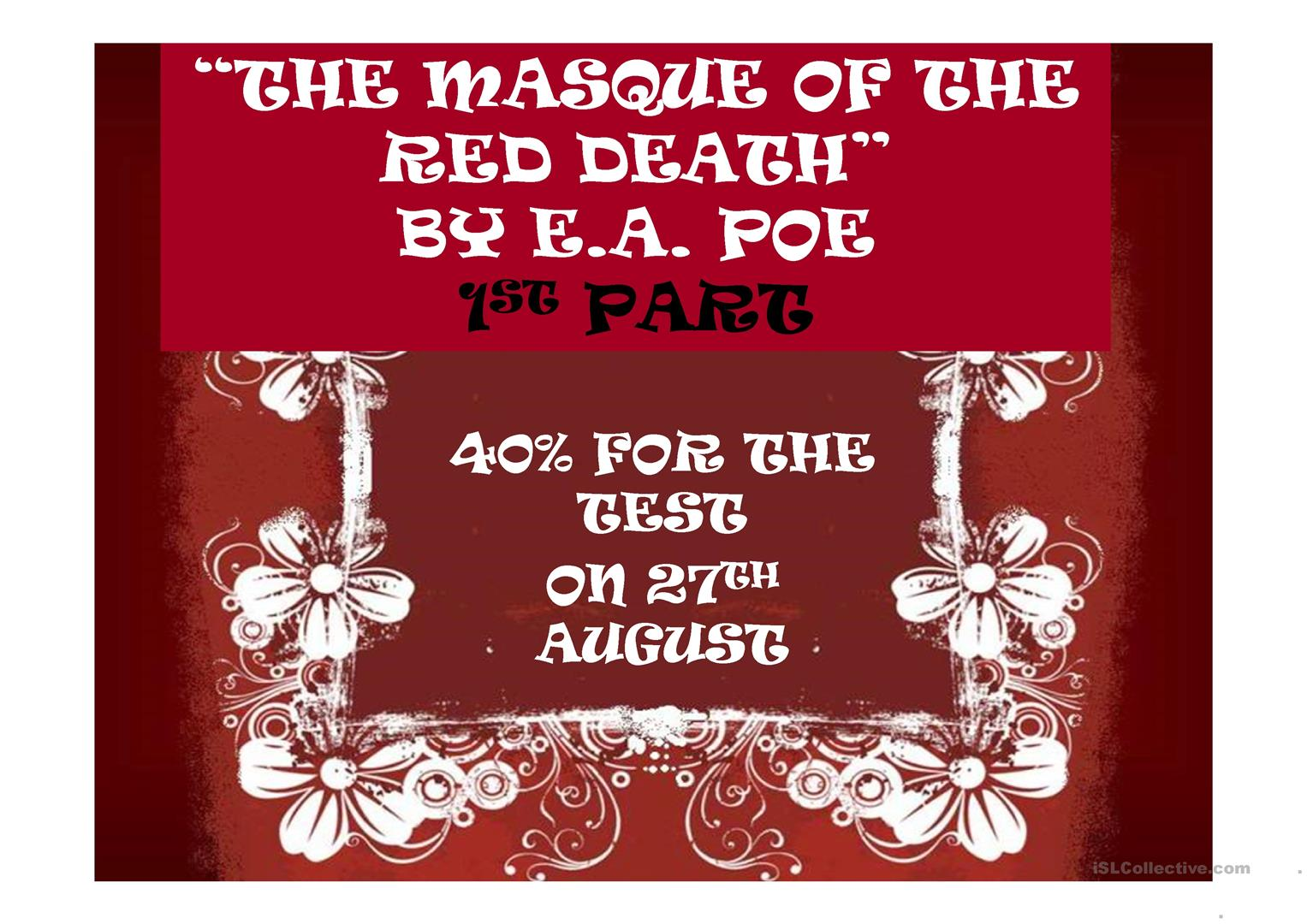 The Masque of the Red Death Summary & Study Guide