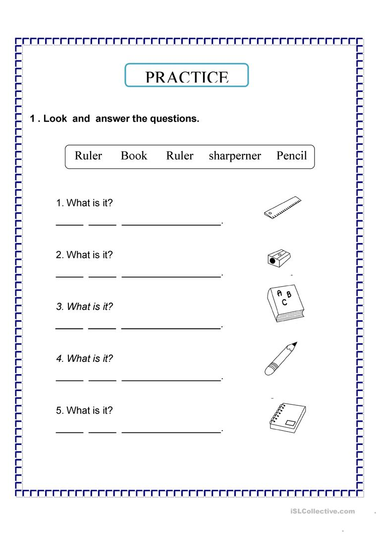 what is it ? - English ESL Worksheets