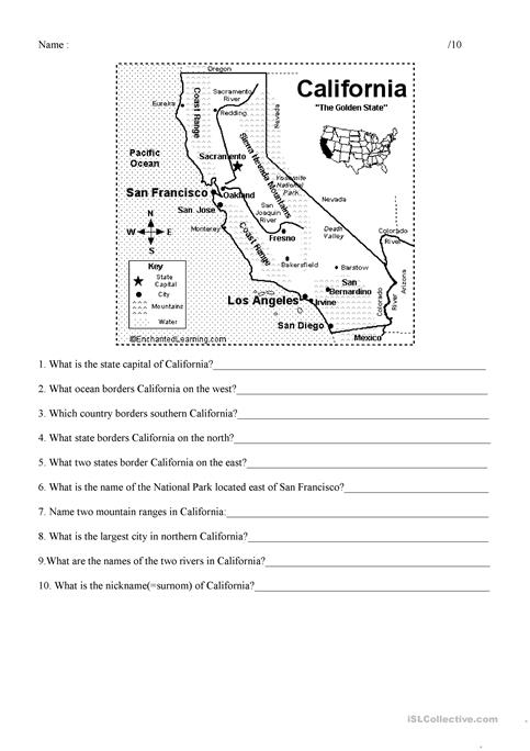 Questions about california worksheet free esl printable worksheets questions about california altavistaventures Gallery