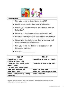 33 free esl invitation worksheets invitations stopboris Gallery