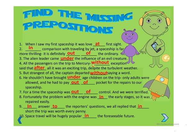 Advanced Level Prepositions with Nouns Presentation