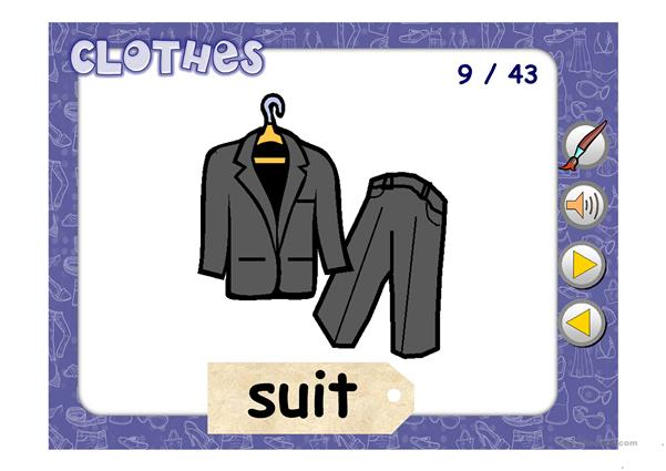 CLOTHES AUDIO PICTIONARY