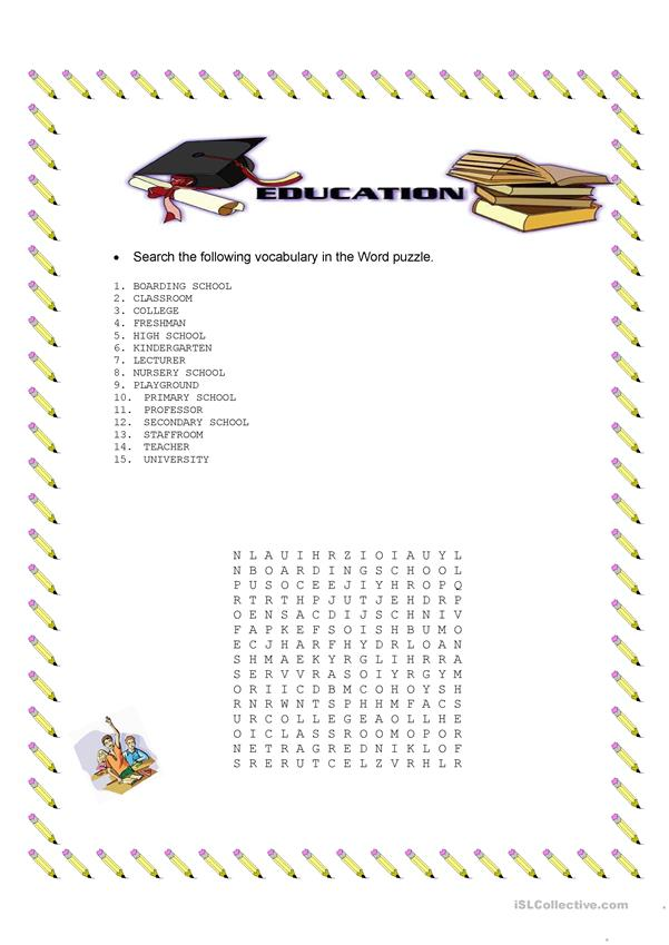 Education word puzzle