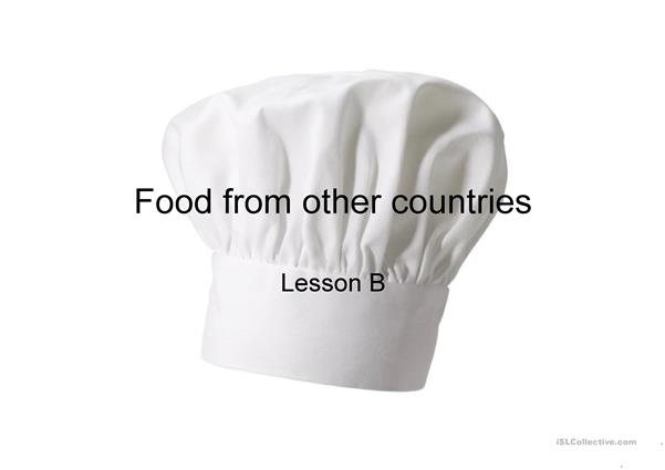 Food from other countries