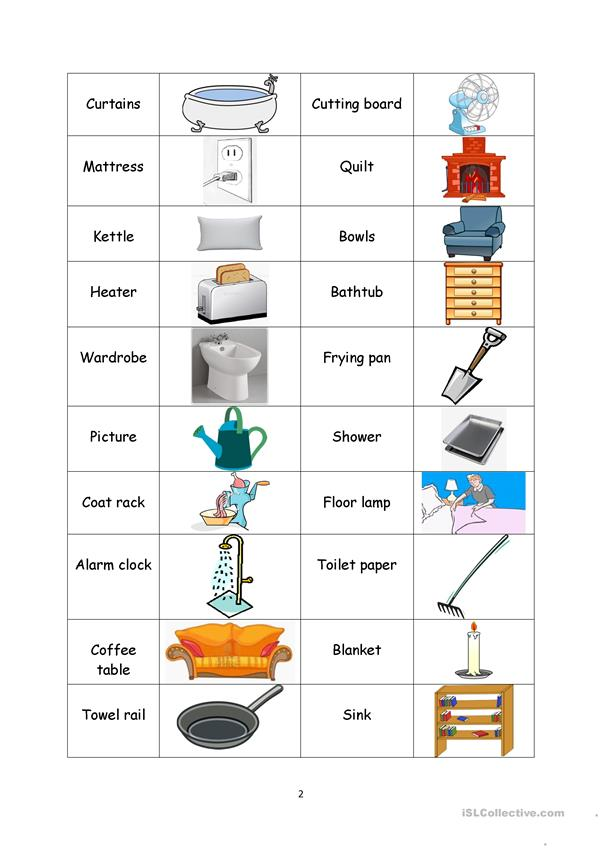 Household-matching vocabulary