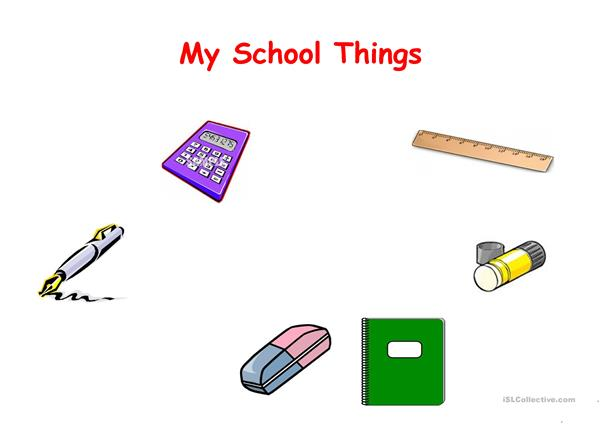 My school things