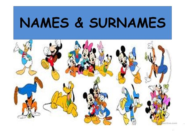 Names and surnames