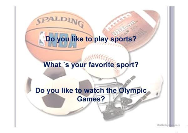 Olympic Sports- how to use play , do ,and go