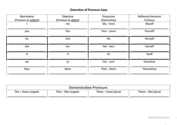 Overview Pronoun Case