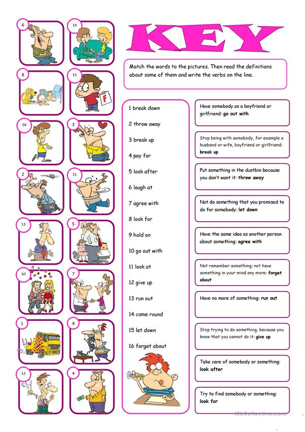 Phrasal Verbs Matching Exercise