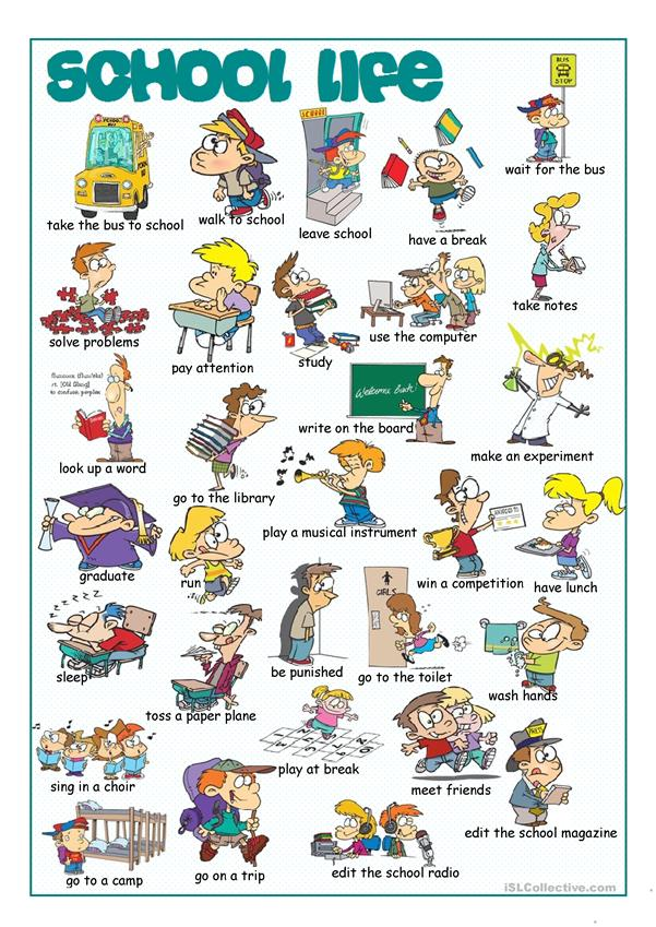 School Life Picture Dictionary#1