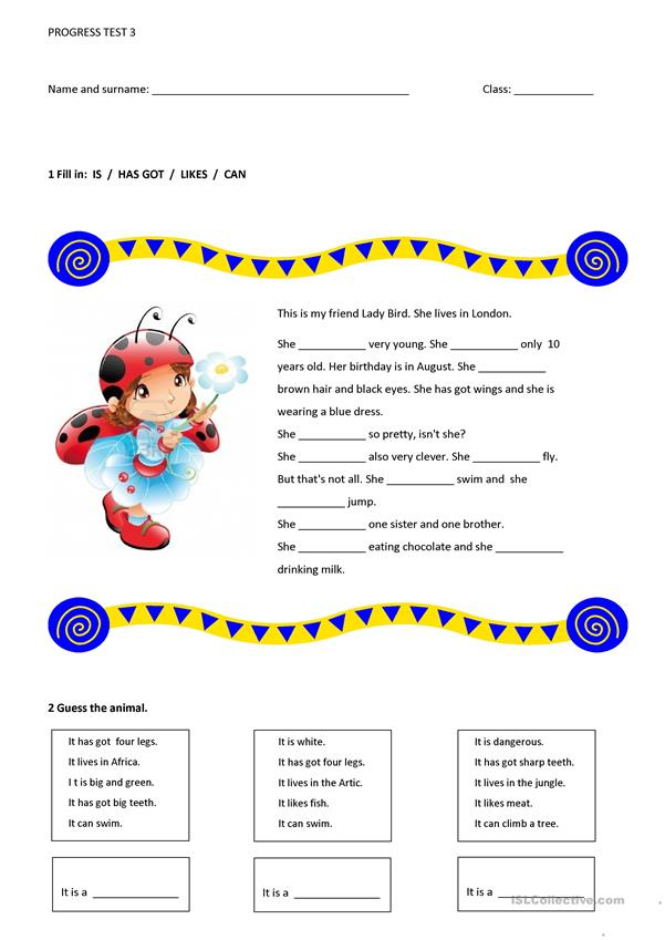 Test - worksheet