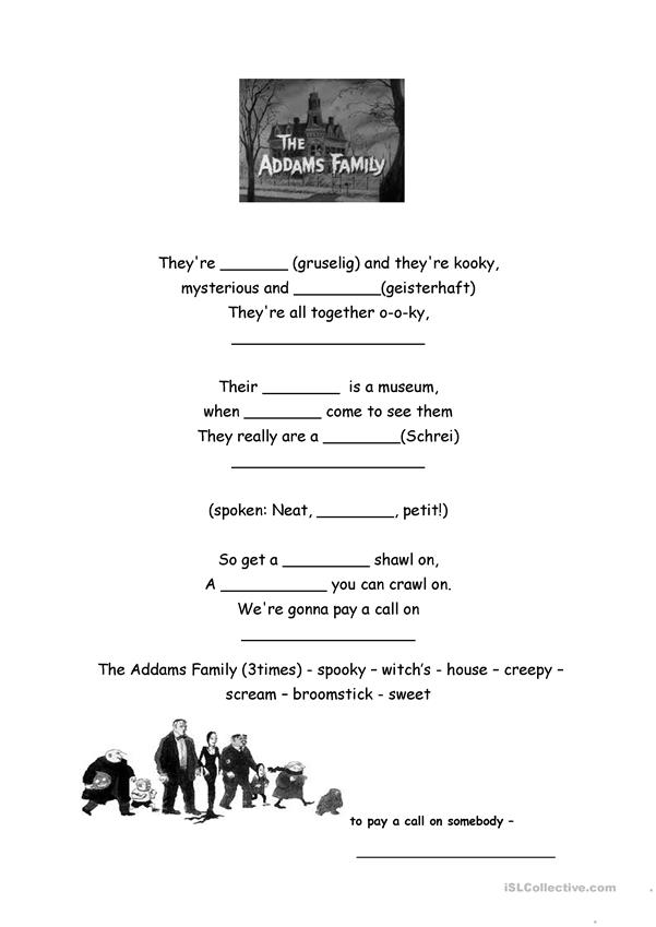 The Adams family song