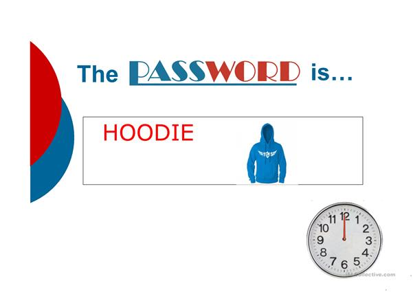 The password is - fashion and appearance