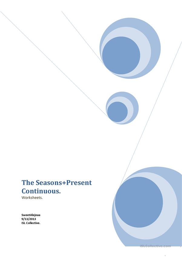 The Seasons+Present Continuous