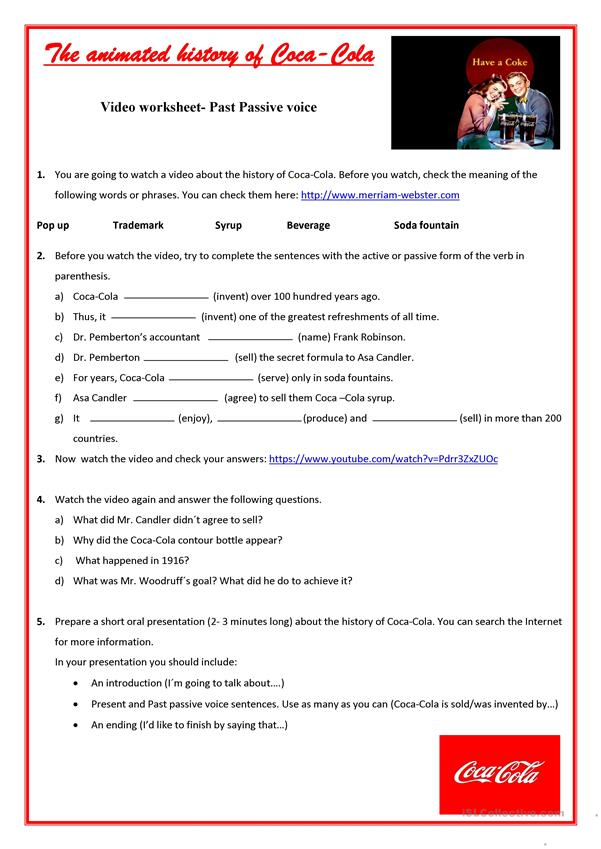 Video Worksheet-Passive voice