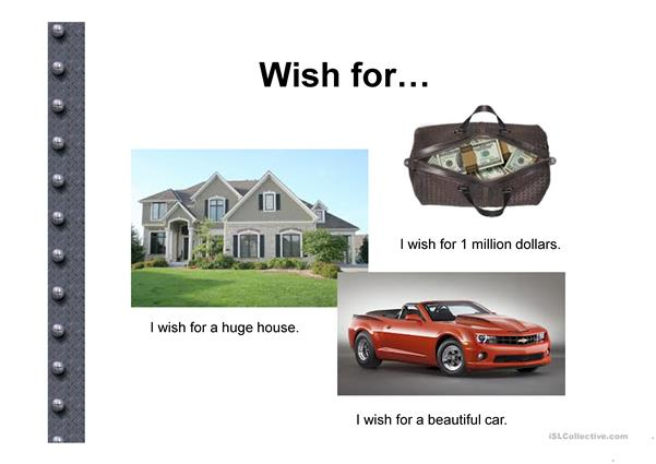 Wish for + If
