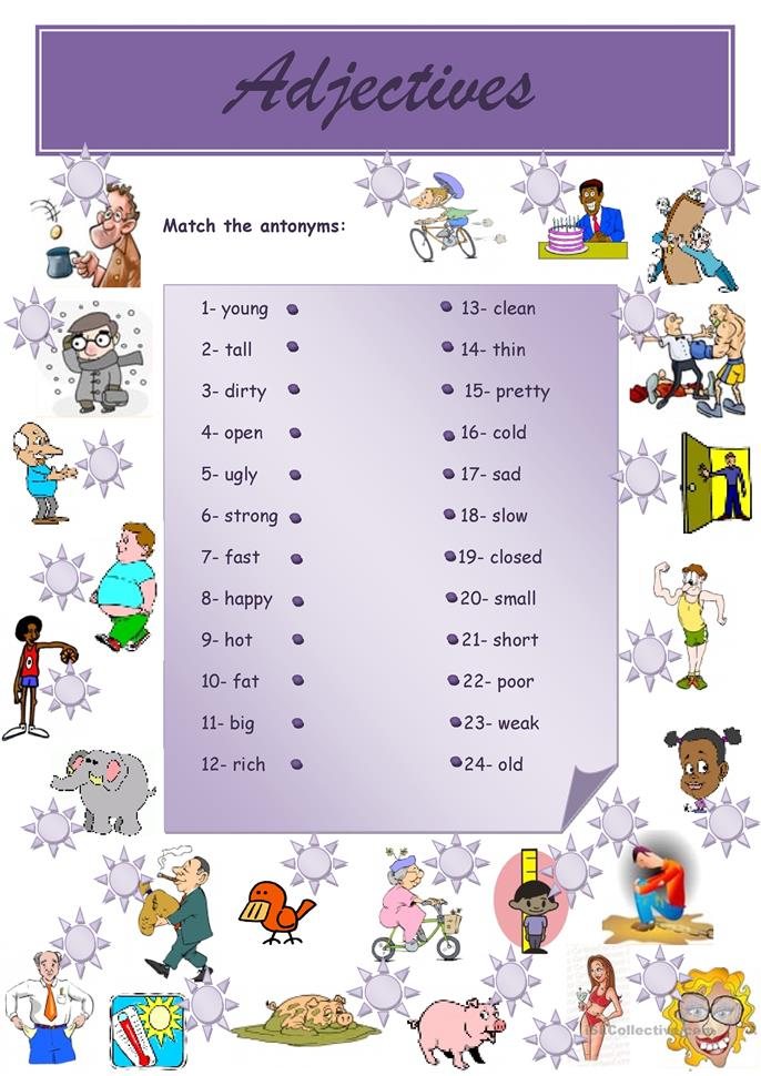 big_59039_adjectives_opposites_1 Opposite Worksheet For Pre on 3rd grade, free printable, find draw, for kindergarten fun, cut match, first grade, preschool book, finish start, character defects,
