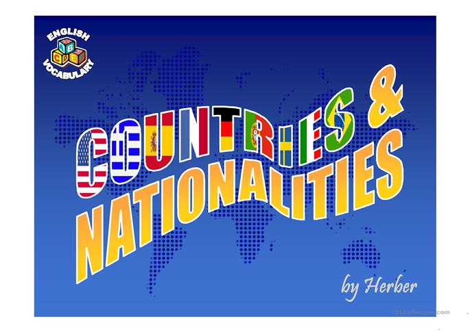 COUNTRIES AND NATIONALITIES - ESL powerpoints