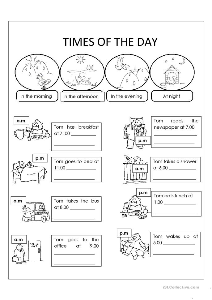 Free Printable Morning Worksheets : Day and night worksheet free esl printable worksheets