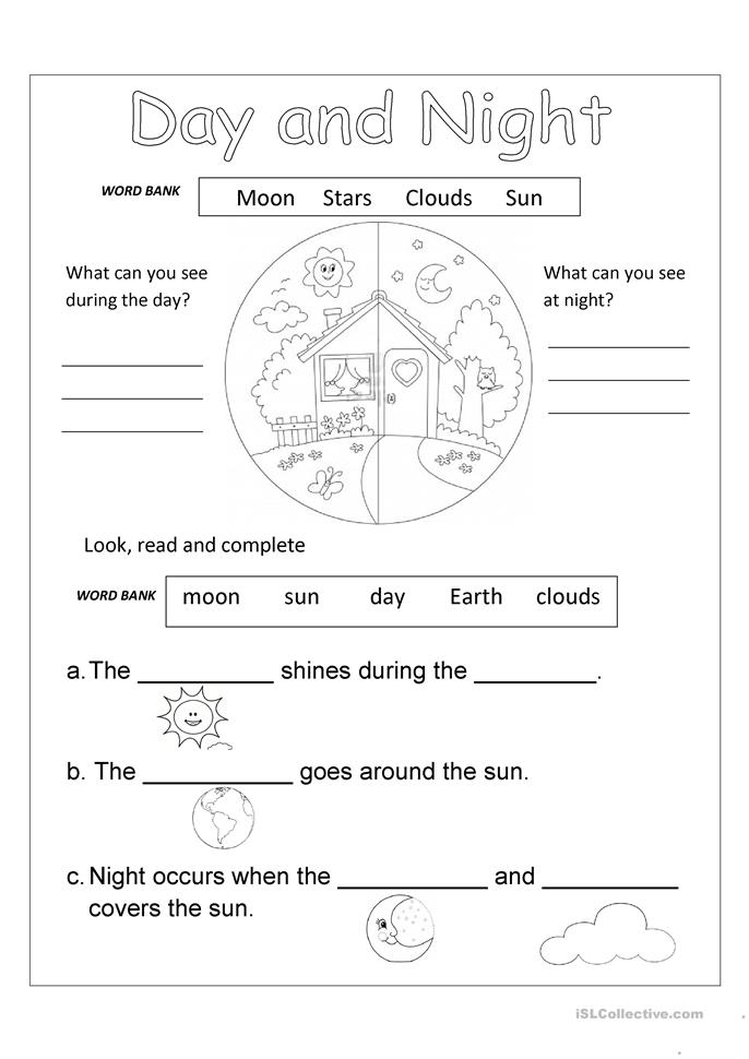 math worksheet : day and night worksheet  free esl printable worksheets made by  : Day And Night Worksheets For Kindergarten