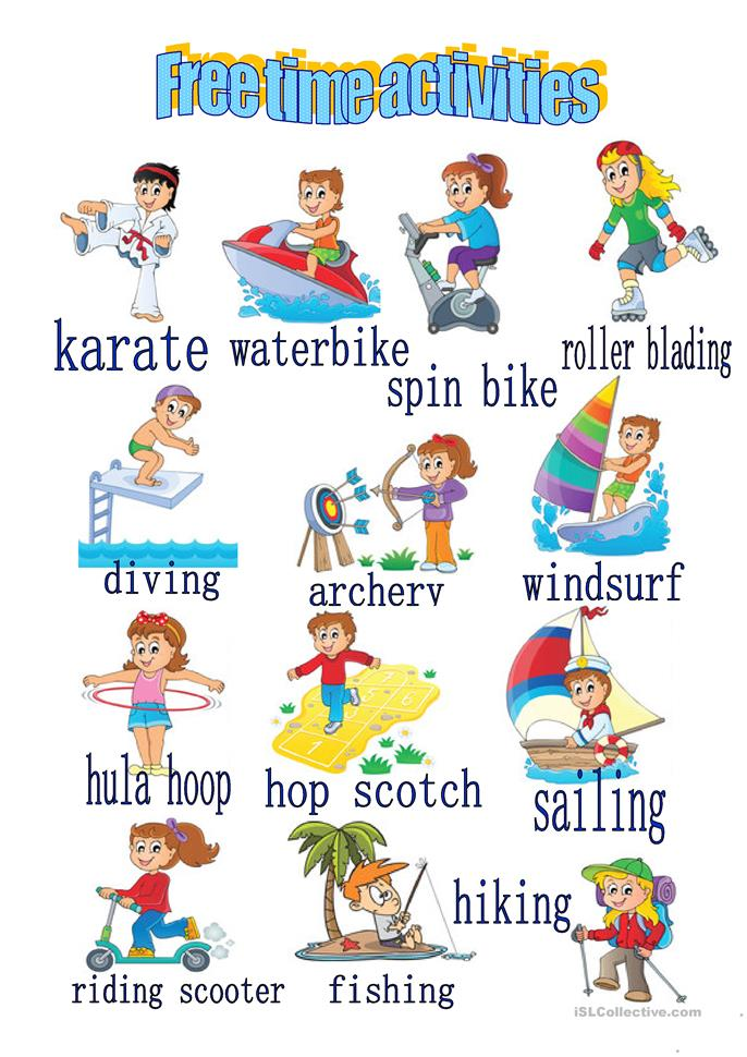 FREE TIME ACTIVITIES worksheet - Free ESL printable worksheets made by ...