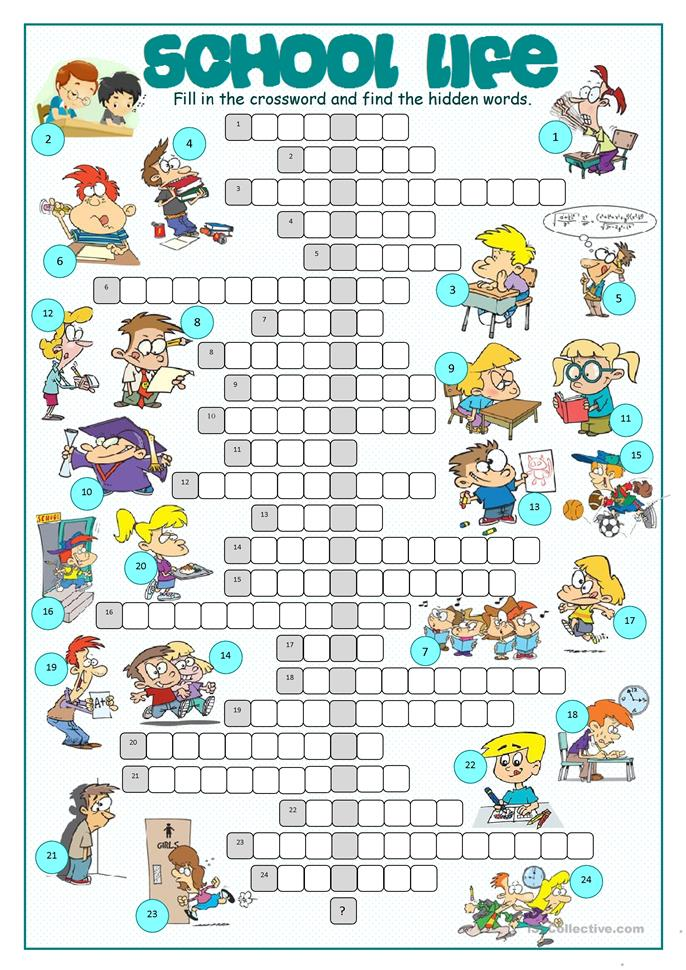 This is an image of Intrepid Crossword Puzzles for High School Students Printable