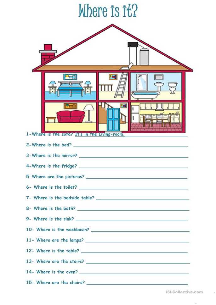 Who What Where Worksheets : Where is it worksheet free esl printable worksheets