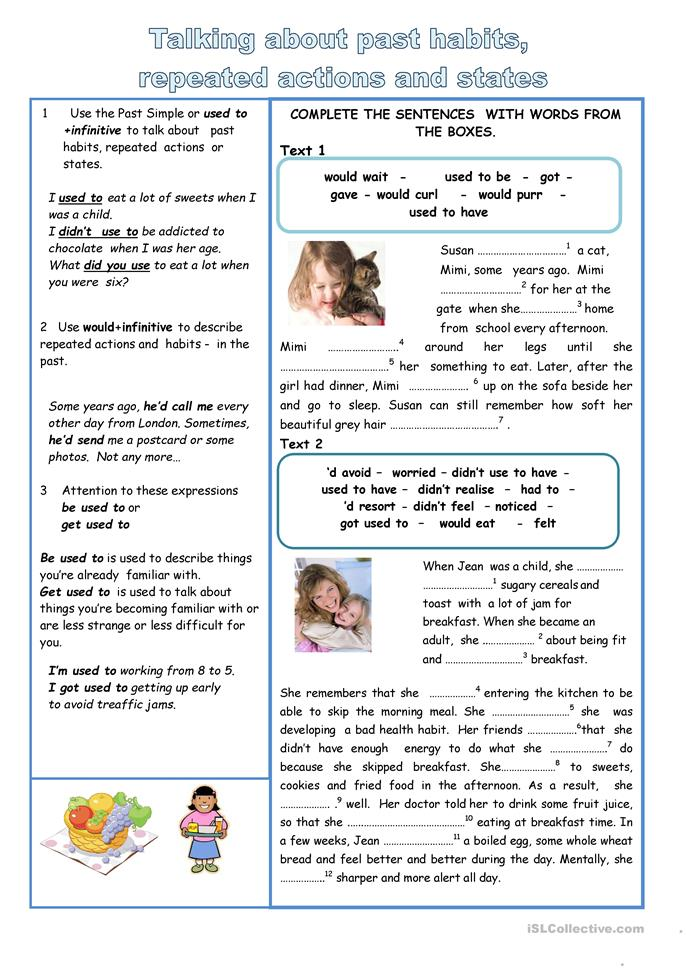 Will - Would - used to - ESL worksheets