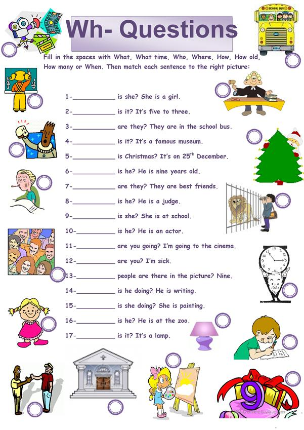 Candid image regarding free printable wh questions worksheets