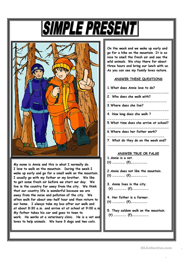 Uncategorized Esl Reading Comprehension Worksheets 50 000 free esl efl worksheets made by teachers for simple present reading comprehension text