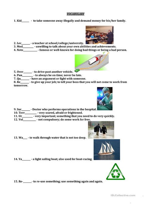 It's just a picture of Free Printable Vocabulary Worksheets pertaining to 5th grade