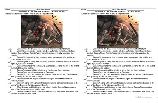 Beowulf: Sequencing Events