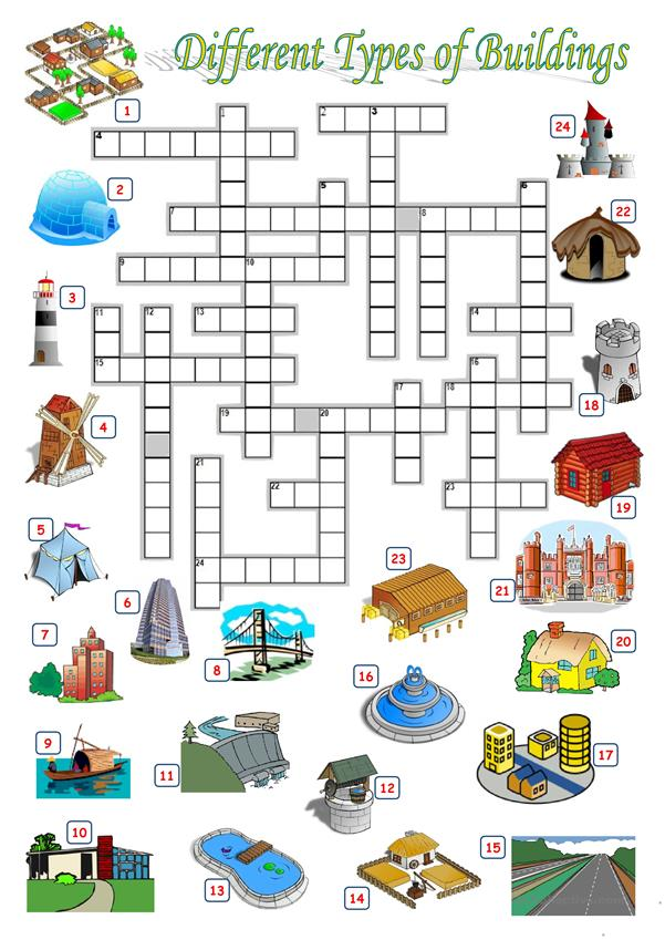 BUILDINGS - CROSSWORD