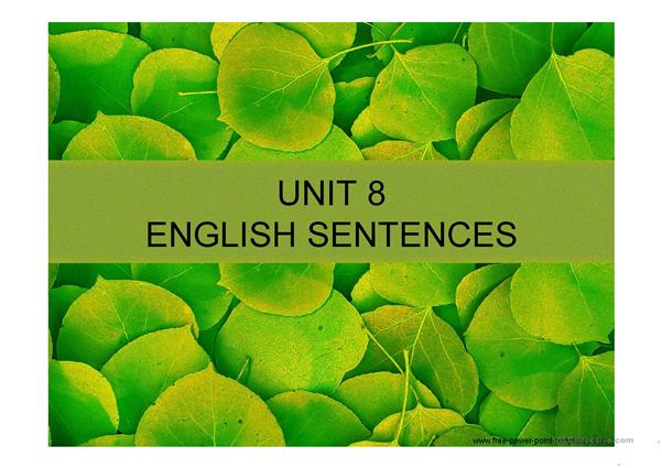 ENGLISH SENTENCES OF UNIT 8 FUN WAY 4  BY RICHMOND PUBLISHING