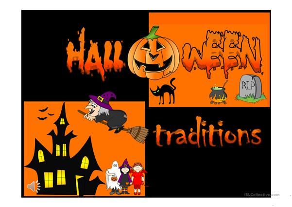 Halloween traditions *with sound and animation*