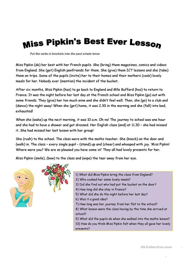 Miss Pipkin goes to France