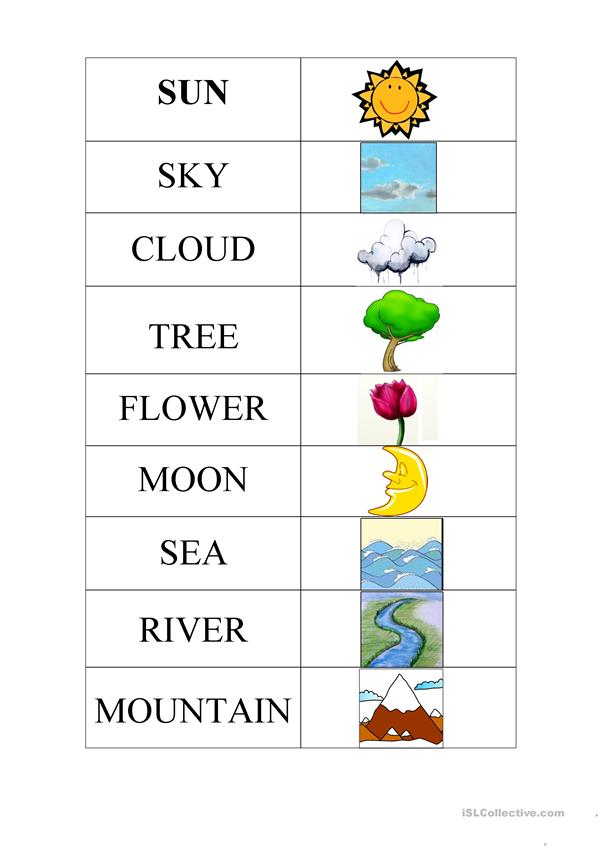 nature picture dictionary poster