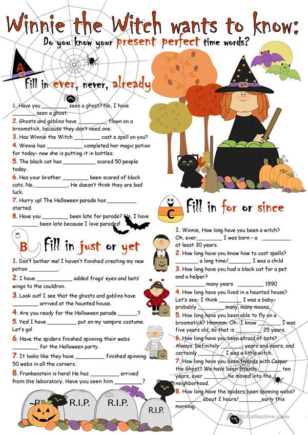 Halloween Challenge:Present Perfect Time Words