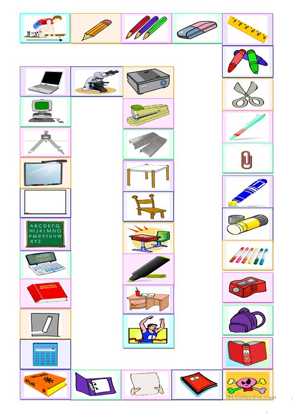 School items - Board game