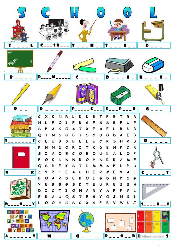 SCHOOL - WORDSEARCH
