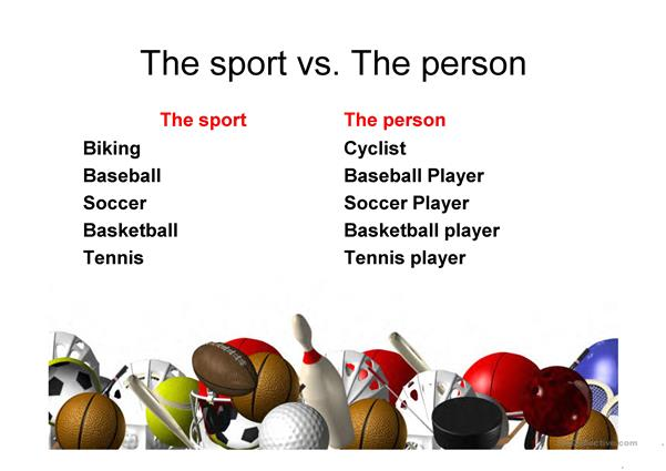 Sports - Person & Equipment