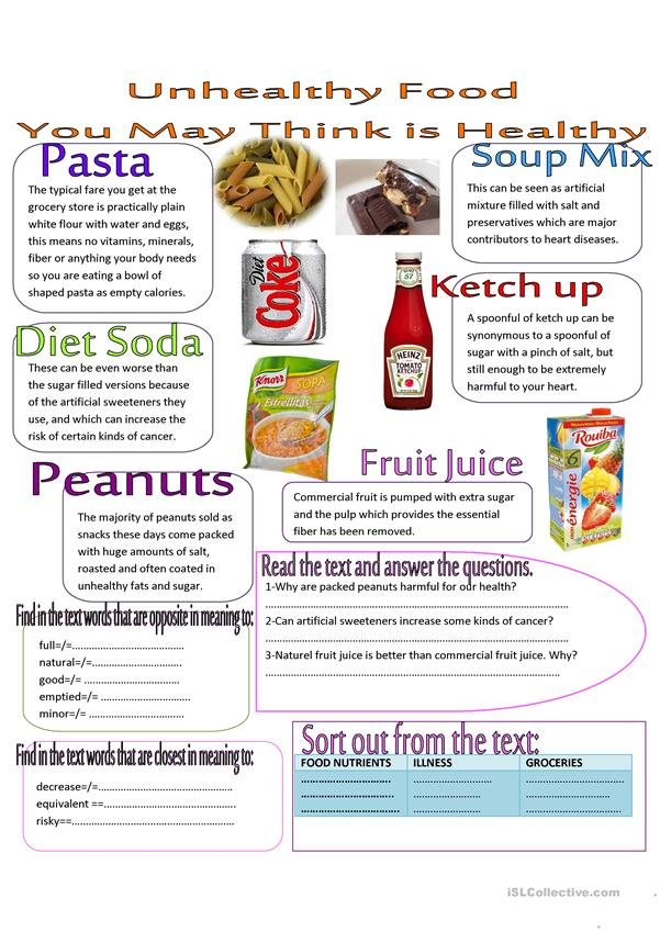 unhealthy food that you may think is healthy