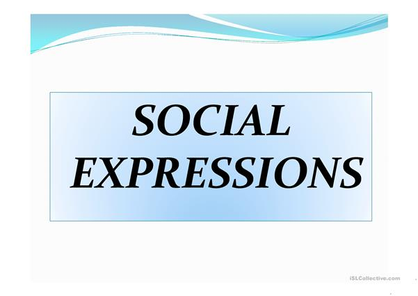 Word formation and social expressions