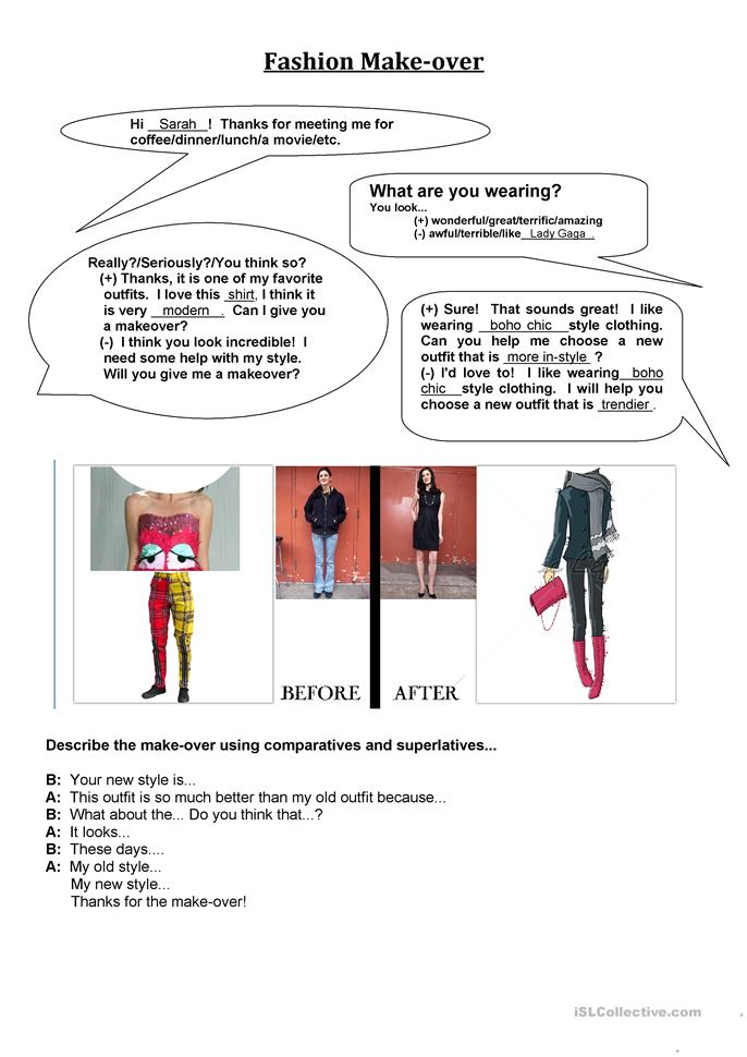 reading fashion worksheet free esl printable worksheets made by teachers. Black Bedroom Furniture Sets. Home Design Ideas