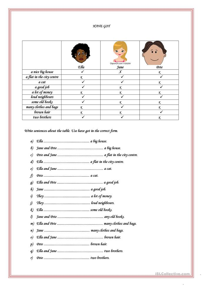 grammar for adults worksheets