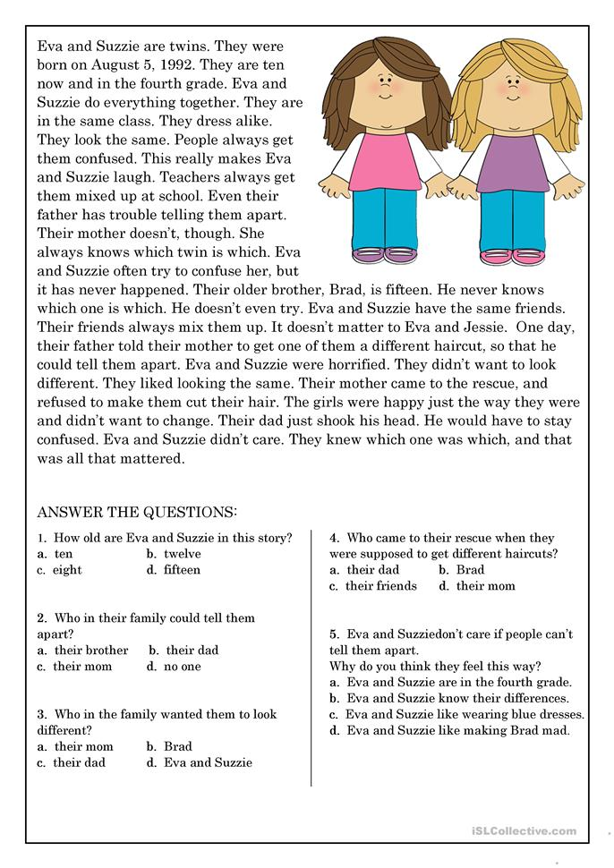 Printables Elementary Reading Comprehension Worksheets reading comprehension worksheets elementary scalien scalien