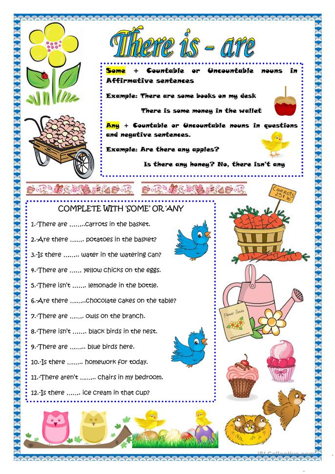 THERE IS -ARE worksheet - Free ESL printable worksheets made by teachers