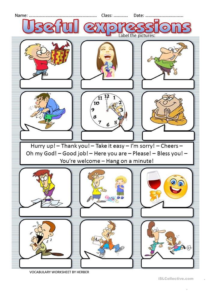 USEFUL EXPRESSIONS worksheet - Free ESL printable ...